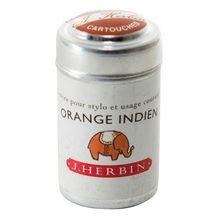 J.herbin Ink Cartridge - Orange Indien