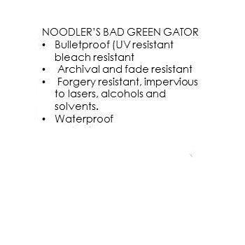 Noodler's - Bad Green Gator (3Oz.)