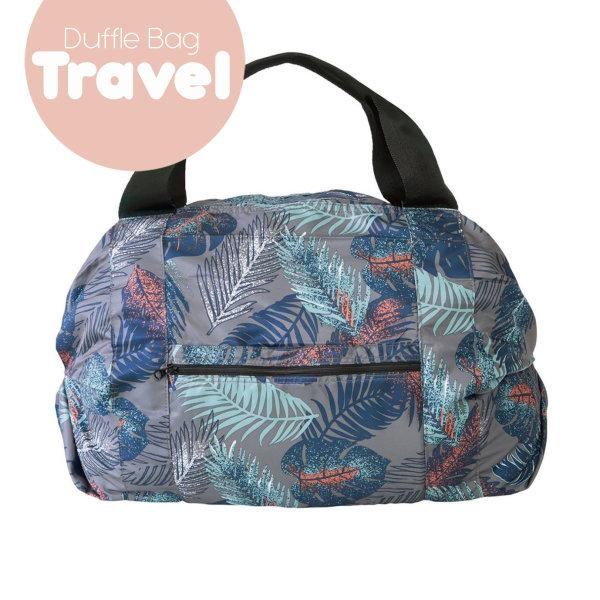 Shupatto Compact Bag - Travel Duffle Bag - Leaf Pattern