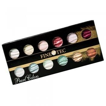 Finetec M1200 - Mica Watercolor - Pearl Color - 12 Color Set