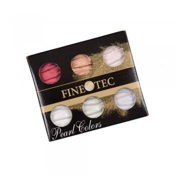 Finetec M600S - Mica Watercolor - Pearl Color - 6 Color Set