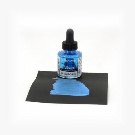 Iridescent Calligraphy - Sequins Blue (1oz.)