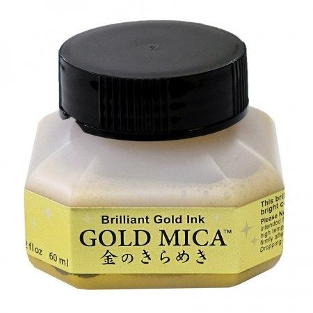 Kuretake Gold Mica Ink (60ml.)