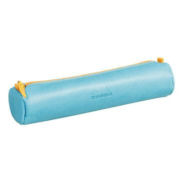 Rhodia : Round pencil case - Turquoise Blue (8970)