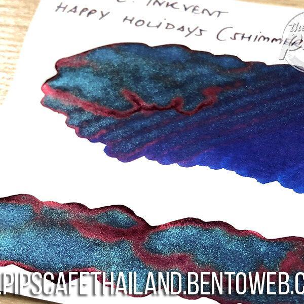 Diamine : Happy Holidays (Shimmer+Sheen) - Inkvent Blue Edition (50ml.)