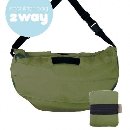 Shupatto Compact Bag - 2way Shoulder Bag - Olive