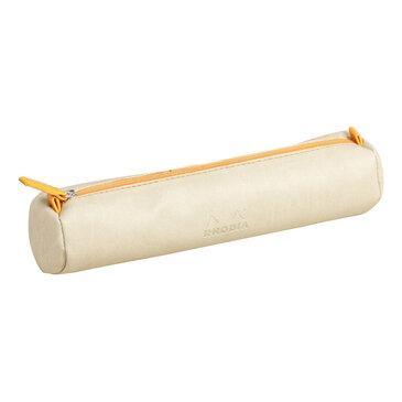 Rhodia : Round pencil case - Beige (8956)