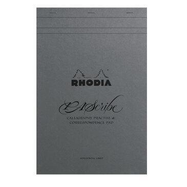 Rhodia x Pascribe : Calligraphy Pad - Grey Maya - A4+