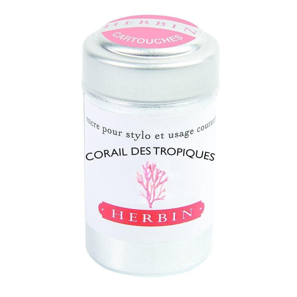 J.herbin Ink Cartridge - Corail des Tropiques