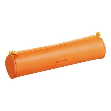 Rhodia : Round pencil case - Tangerine (9946)