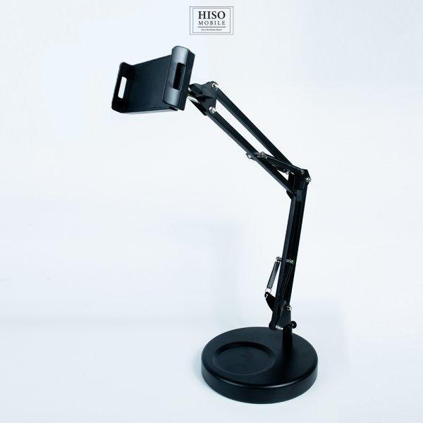 ที่วางโทรศัพ ขาเหล็ก ฐานกลมใหญ่ ขาพับปรับได้ จับ Ipad ได้