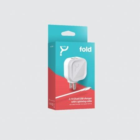 Adapter (หัวชาร์จ) WHY FOLD (For Apple)