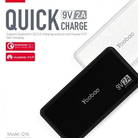 Power Bank Yoobao Q16 16000mAh Quick Charge3.0
