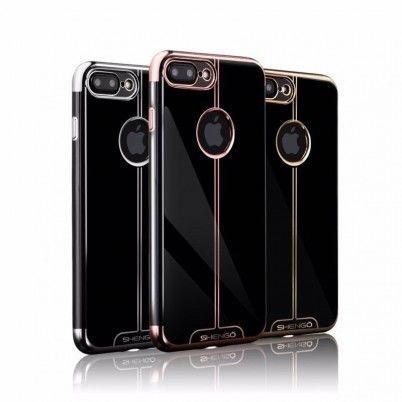 เคสหลัง TPU เงา พร้อมขอบสีโครเมี่ยมที่ดูโดดเด่น สะดุดตา APPLE iPhone 7 Plus