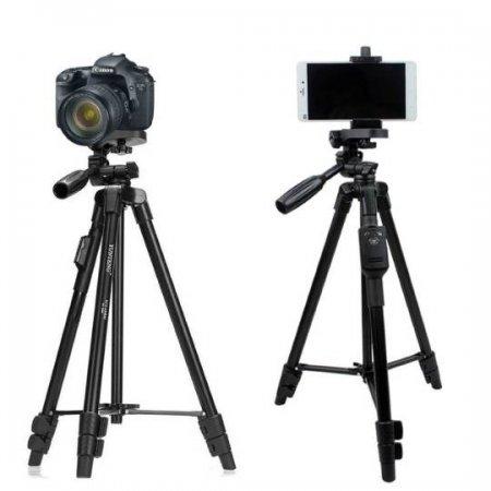 YUNTENG VCT-5208 ขาตั้งกล้องและมือถือ แบบ 3 ขา พร้อมรีโมทบลูทูธ