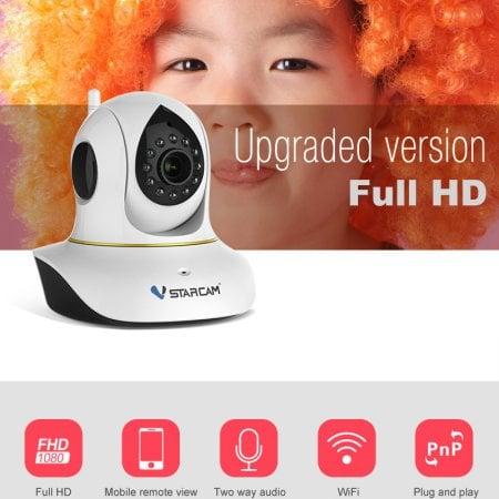 กล้องวงจรปิดไร้สาย VStarCam C38S WiFi IR IP Camera 1080P