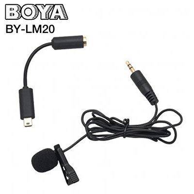 BOYA LM20 [ Jack Connector 3.5m / Mini Usb Plug ]