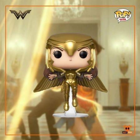 Pre Order Funko POP Wonder Woman Gold Armour Flying Wonder Woman 1984