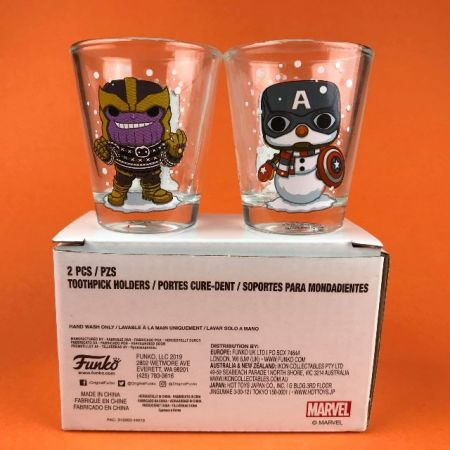 Funko Toothpick Holders Thanos & Captain America Marvel Collector Corps Exclusive 2PCS/PZS