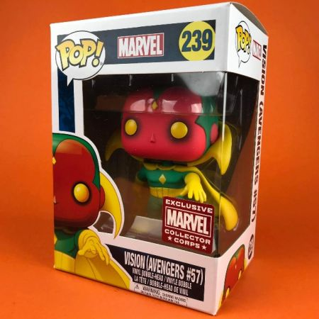 Funko POP Vision (Avengers #57) Marvel Collector Corps Exclusive 239