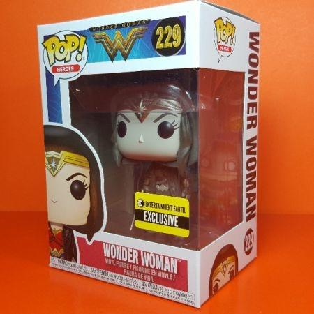 Funko POP Wonder Woman Sepia Entertainment Earth E xclusive 229