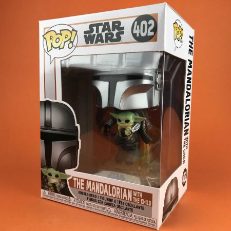 Funko POP The Mandalorian with The Child Flying 402