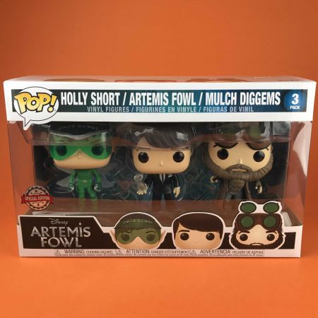 Funko POP Holly Short / Artemis Fowl / Mulch Diggems 3 pack Exclusive Artemis Fowl