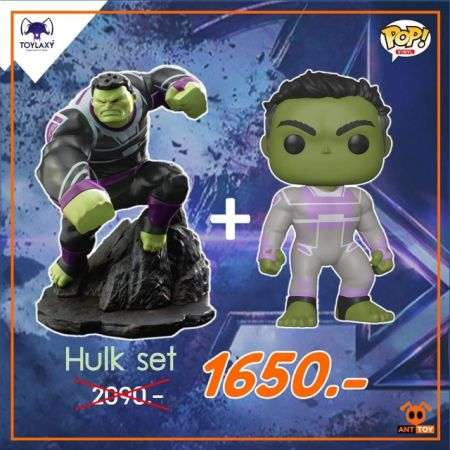 Duo Set - Toylaxy Premium PVC Hulk & Funko POP Professor Hulk Exclusive