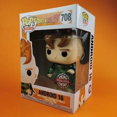 Funko POP Android 16 Metallic Dragon Ball Z Exclusive 708
