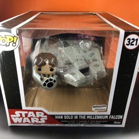 Funko POP The Millennium Falcon W/HanSolo (Amazon Exclusive) Deluxe Star Wars 321
