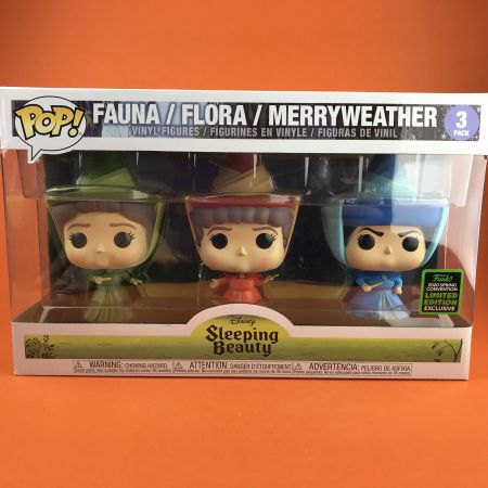 Funko POP Fauna/Flora/Merryweather Sleeping Beauty Exclusive ECCC 3 Pack