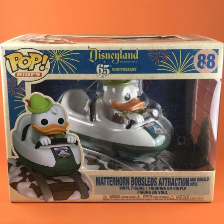 Funko POP Matterhorn Bobsleds Attraction and Donald Duck Disneyland 65th Anniversary 88