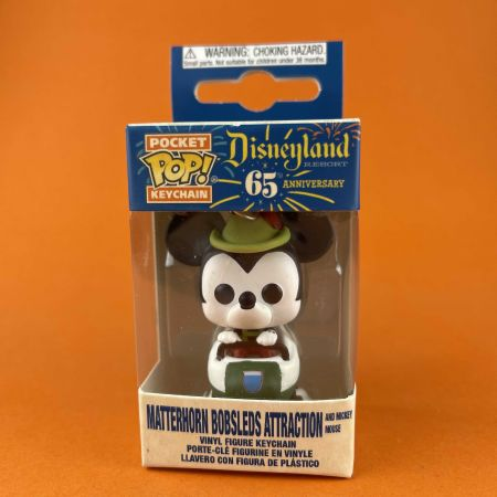 Funko POP Keychain Mickey Mouse with Matterhorn Bobsleds Attraction Disneyland