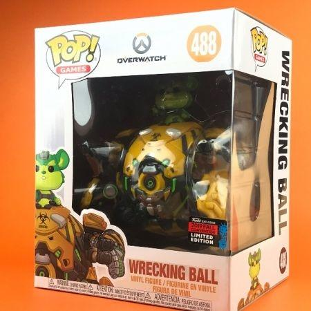 "Funko POP Wrecking Ball Overwatch Nycc 2019 488 (6"")"