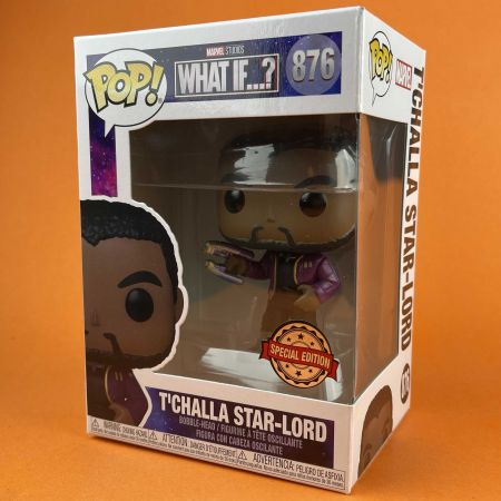 Funko POP T'Challa Star-Lord Unmasked 876 What If