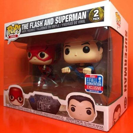 Funko Pop The Flash & Superman Pack 2 NYCC