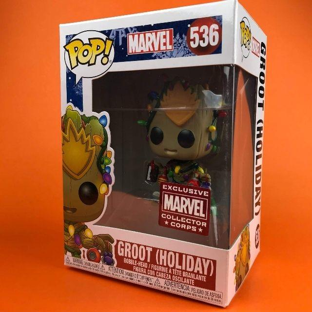 Funko POP Groot Holiday Marvel Collector Corps Exclusvie 536