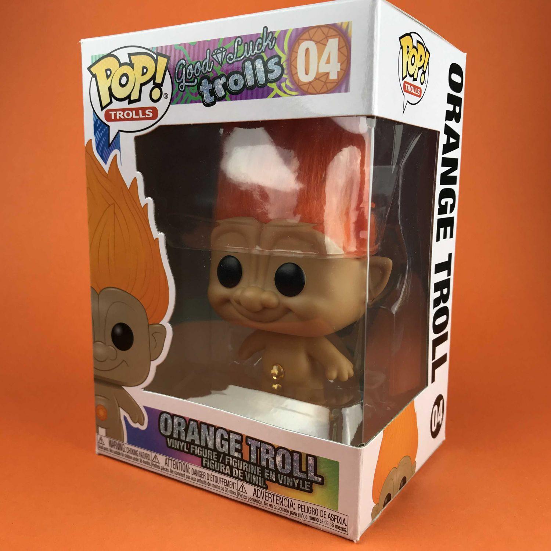 Funko POP Orange Troll Good Luck Trolls 04