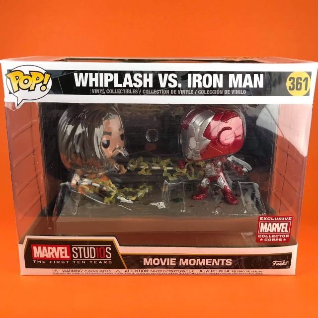 Funko POP Whiplash vs Iron Man Movie Moments Marvel Collector Corps Exclusive 361