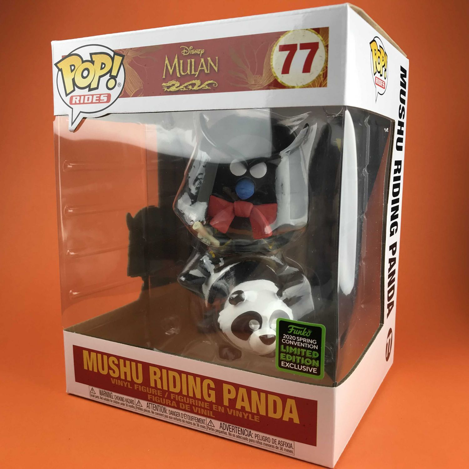 "Funko POP Mushu Riding Panda Mulan Exclusive ECCC  6"" 77"