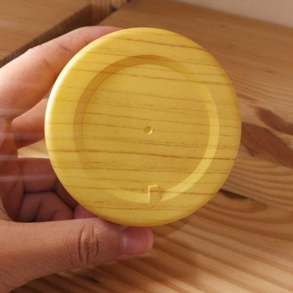 (P_JPL-0046:190) กระปุกพลาสติกลายไม้ สีลายไม้อ่อน 100g (Wood plastic jar)