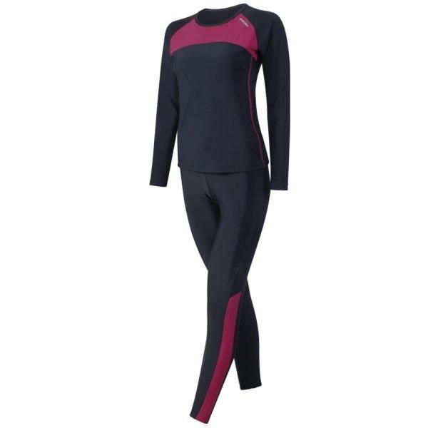 ชุดว่ายน้ำหญิงแบบกางเกงขายาว เสื้อแขนยาว รหัส : 342672 (สีดำ)