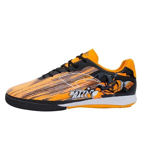 รองเท้าฟุตซอลรุ่นแบทเทิล รหัส : 337026 (สีส้มดำ)