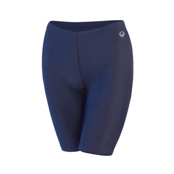 กางเกงว่ายน้ำหญิงขาสามส่วน สีล้วน รหัสสินค้า : 342676 (สีกรม)