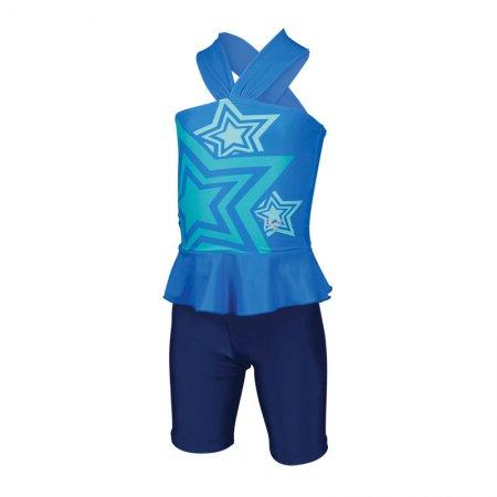 ชุดว่ายน้ำเด็กหญิงแบบ 2 ท่อน(สีฟ้ากรม) รหัส:342648