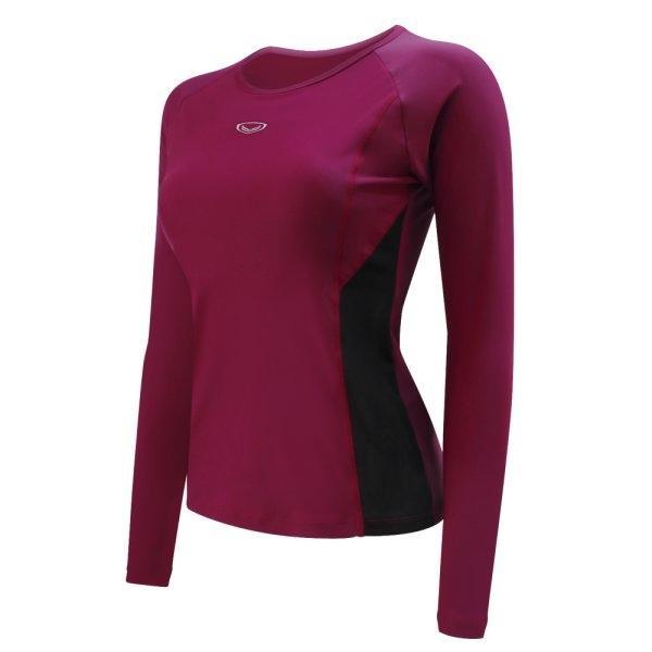 เสื้อว่ายน้ำหญิงแขนยาว รหัส : 342674 (สีแดงเลือดหมู)