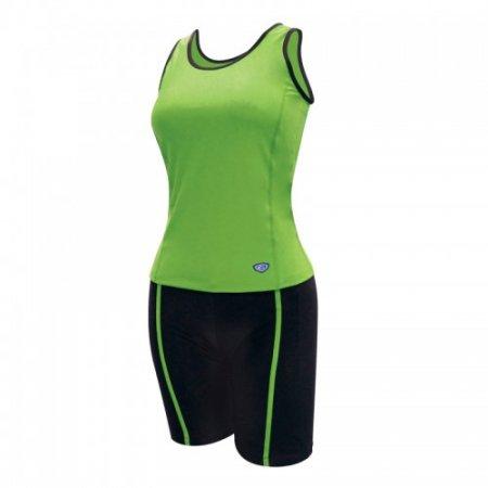 ชุดว่ายน้ำหญิงแบบกางเกง 2 ท่อน(สีเขียว) รหัส:342634