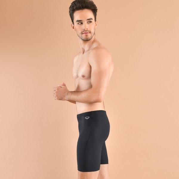 กางเกงว่ายน้ำชายขาสามส่วน รหัสสินค้า : 342220 (สีดำ)