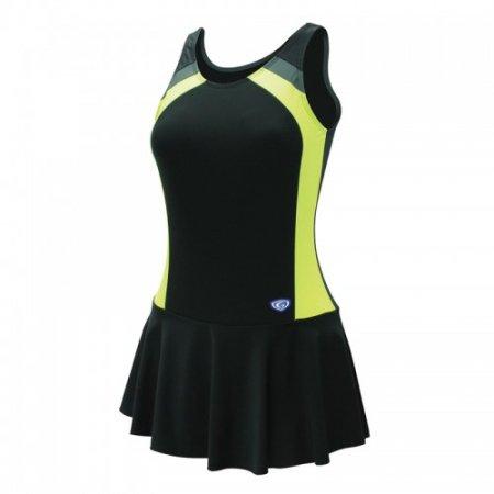 ชุดว่ายน้ำหญิงแบบกระโปรง1 ท่อน(สีดำเหลือง) รหัส:342632