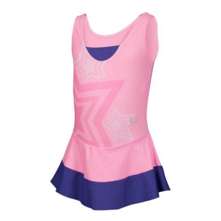 ชุดว่ายน้ำเด็กหญิงแบบกระโปรง(สีชมพู) รหัส:342647